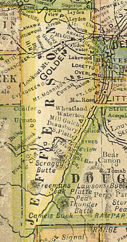 Jefferson County, Colorado: Maps and Gazetteers on