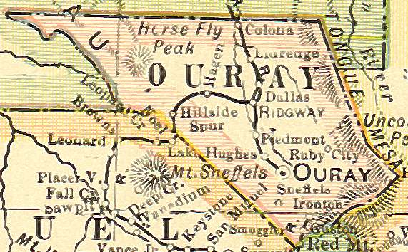 Ouray County, Colorado: Maps and Gazetteers