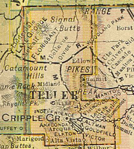 teller county colorado map Teller County Colorado Maps And Gazetteers