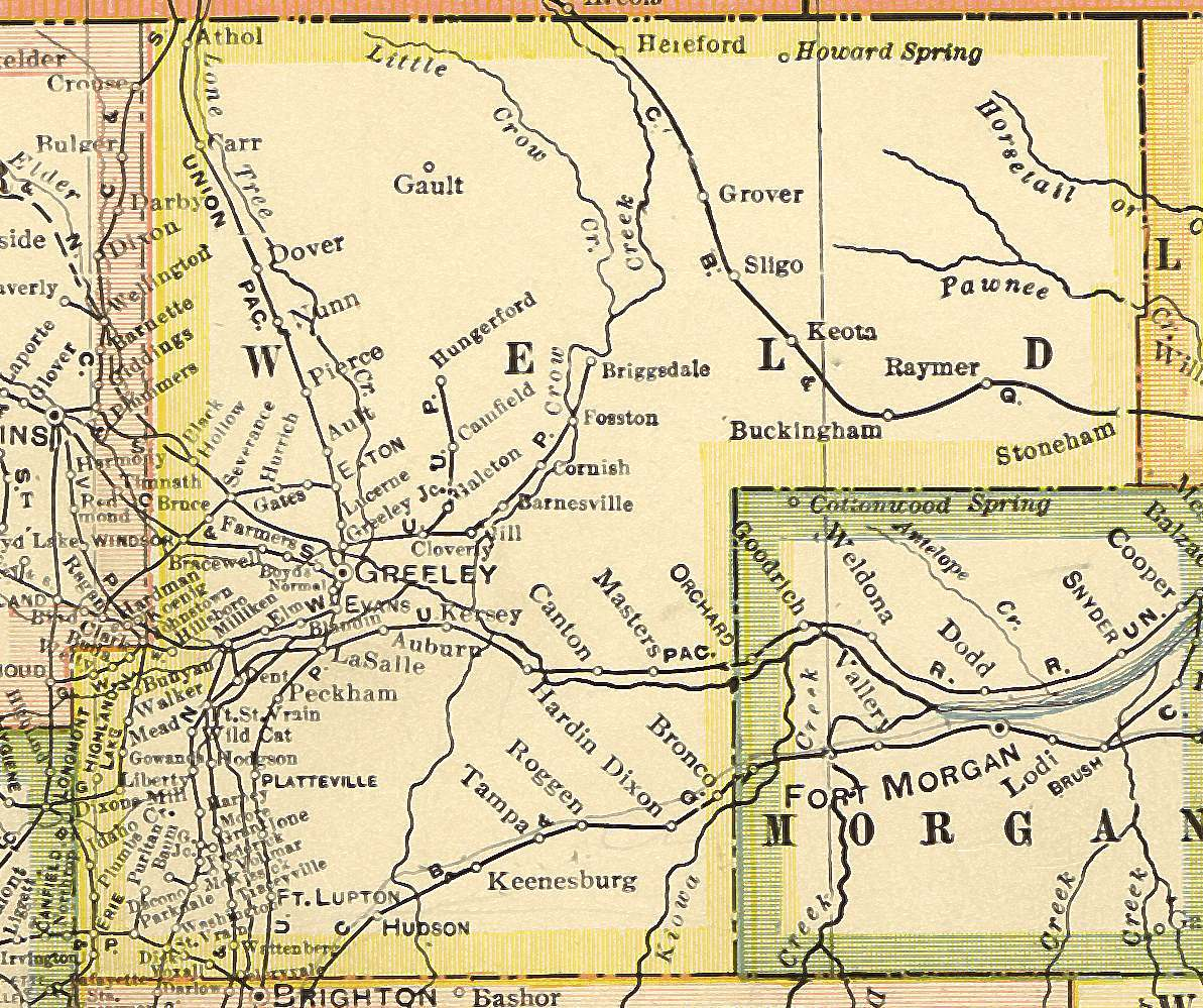 Weld County Colorado Maps And Gazetteers - County maps of colorado