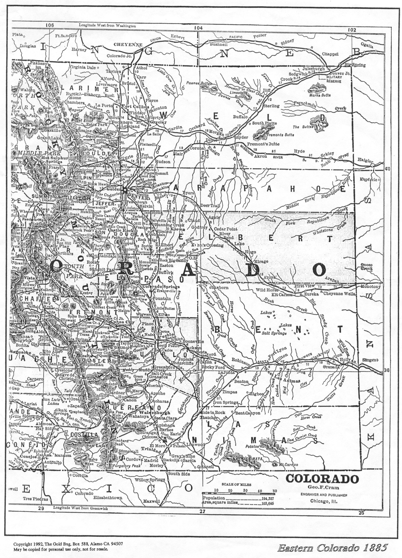 Colorado Maps US Digital Map Library Table Of Contents Page - Coloradomap