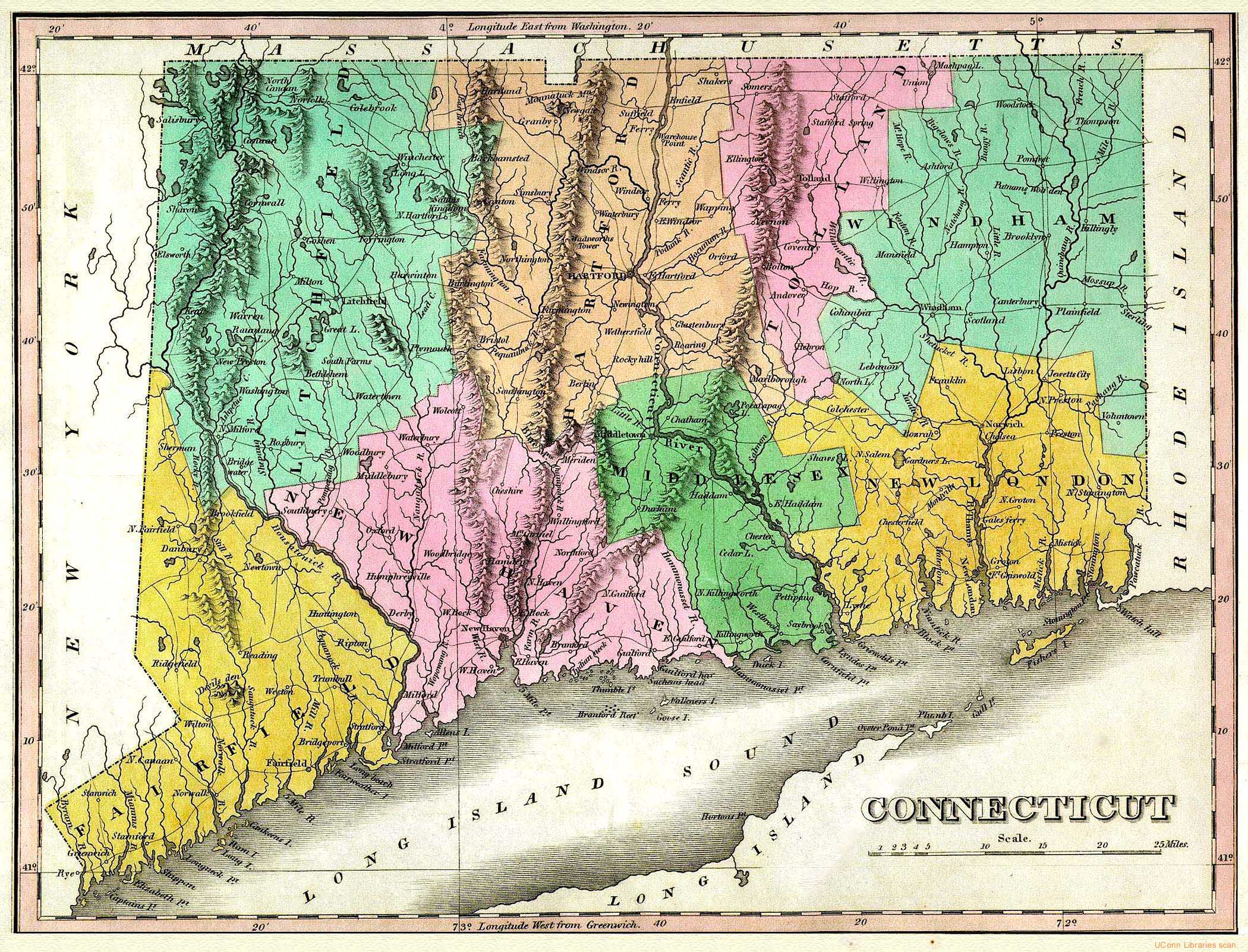 The USGenWeb Archives Digital Map Library  Connecticut