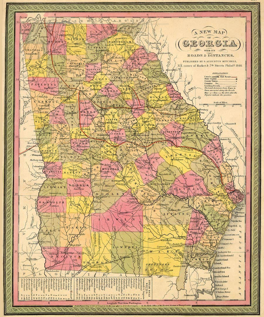 Colonial Map Of Georgia.The Usgenweb Archives Digital Map Library Georgia Maps Index