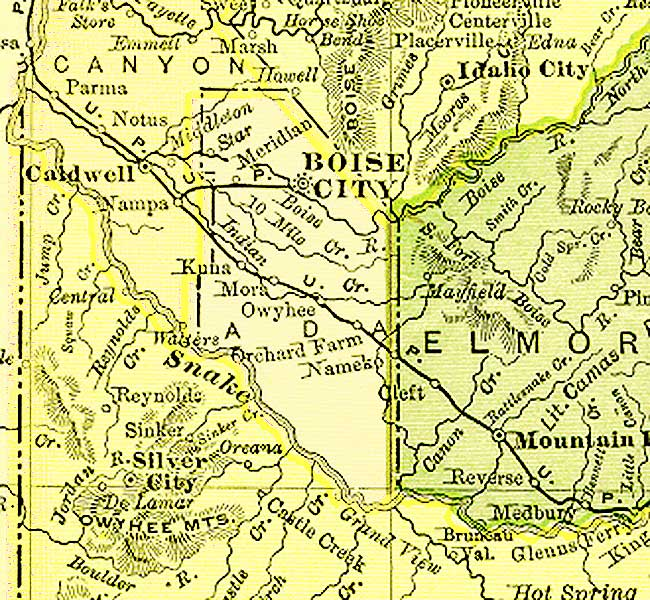 The Usgenweb Archives Digital Map Library Idaho Maps Index