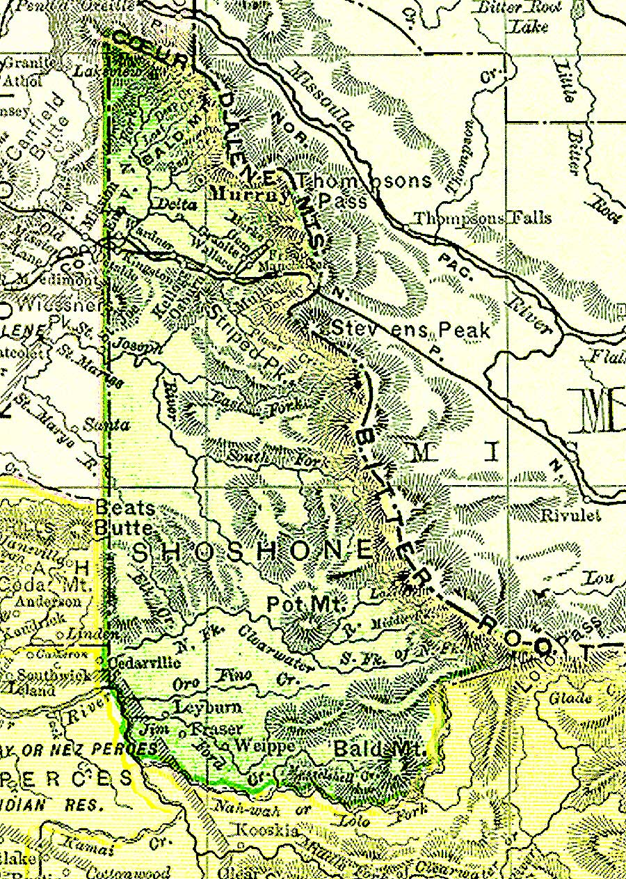 Shoshone Idaho Map.Clearwater County Maps