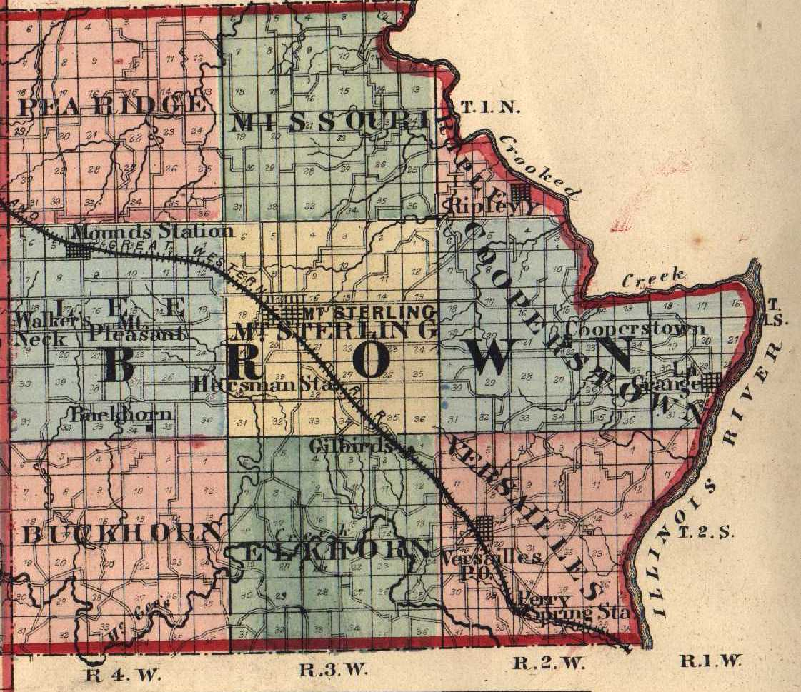 Brown County, Illinois: Maps and Gazetteers