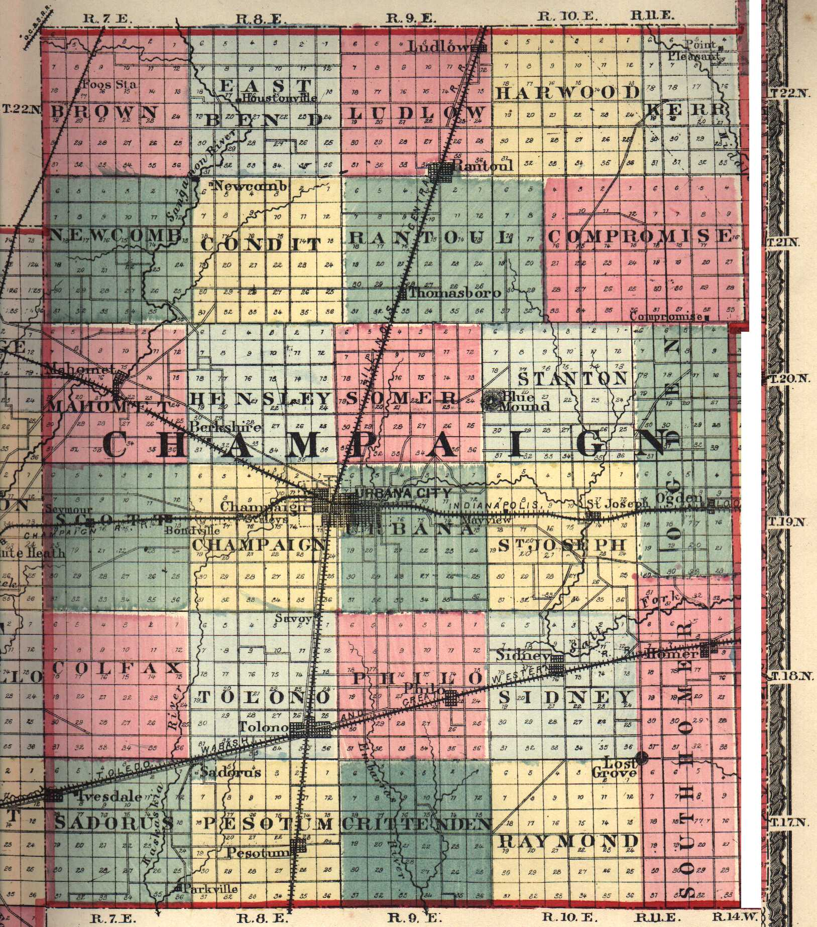 Champaign County Illinois Maps And Gazetteers