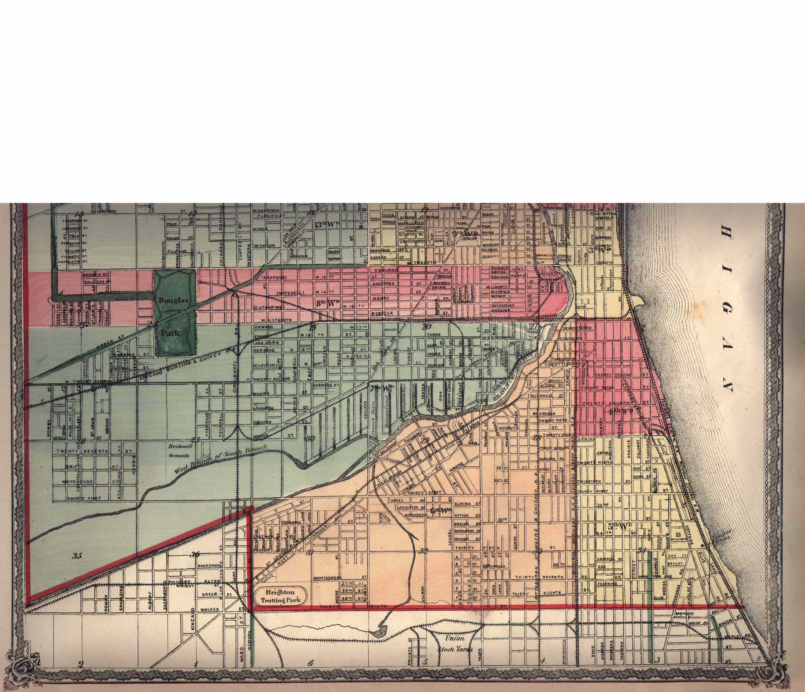 Cook County Illinois Maps And Gazetteers - Chicago map by county