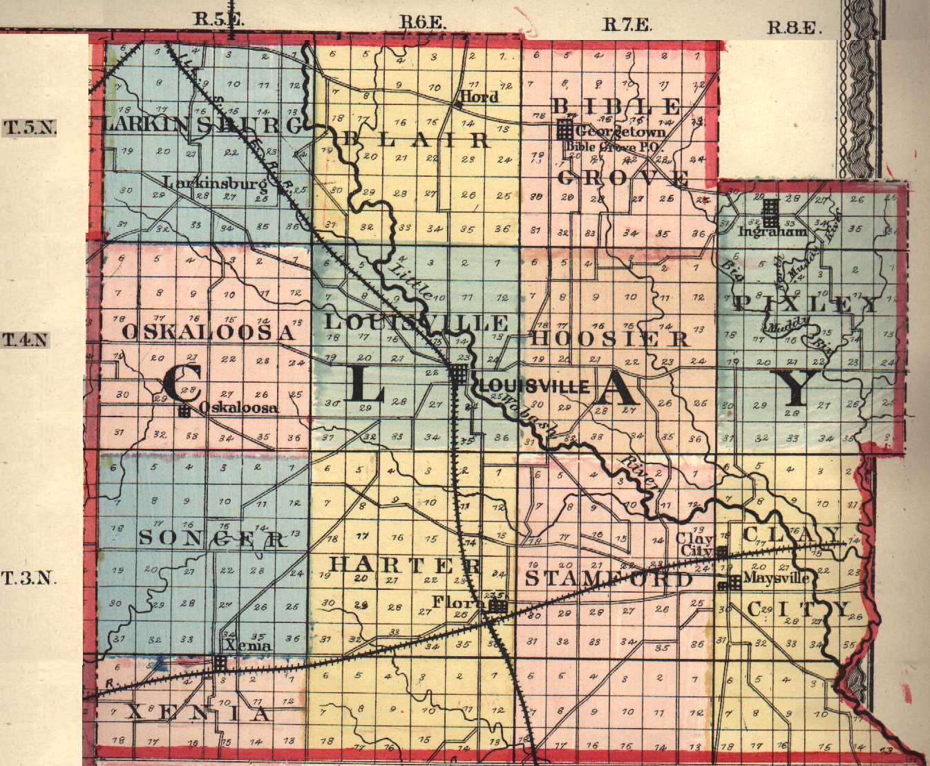 Clay County Illinois Maps And Gazetteers - County map illinois usa