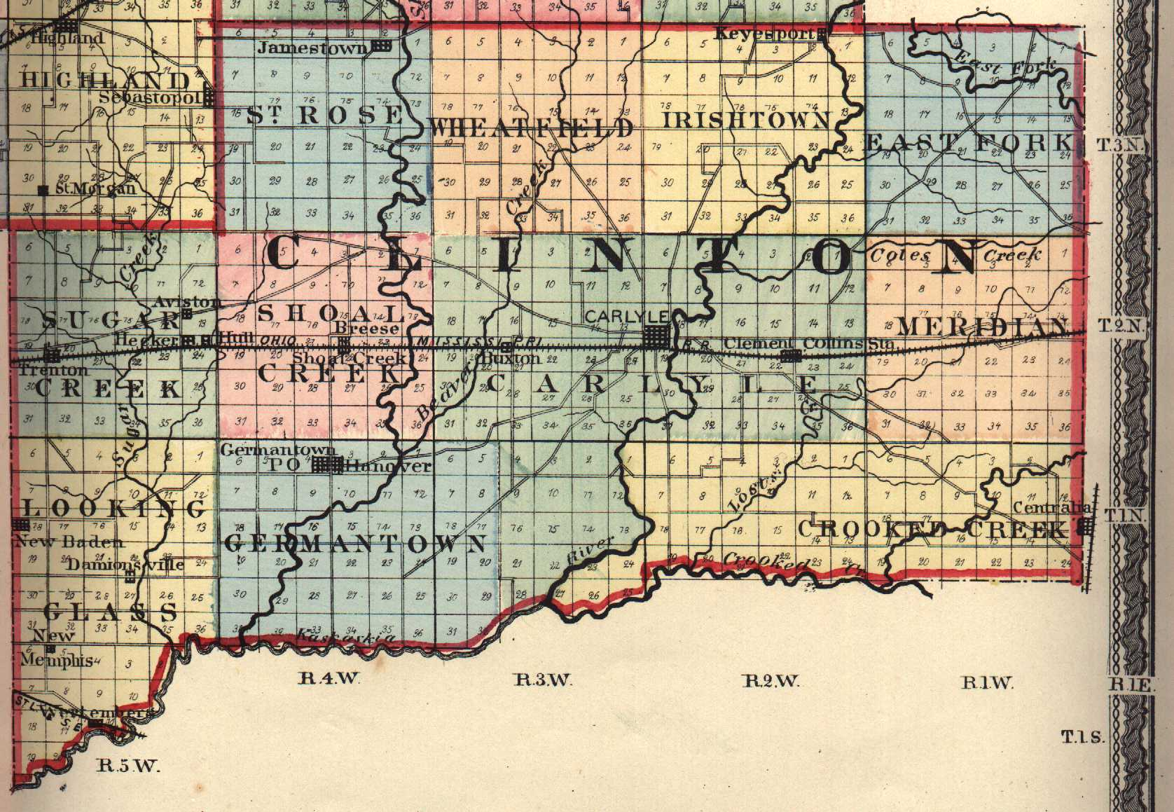 Clinton County Illinois Maps And Gazetteers