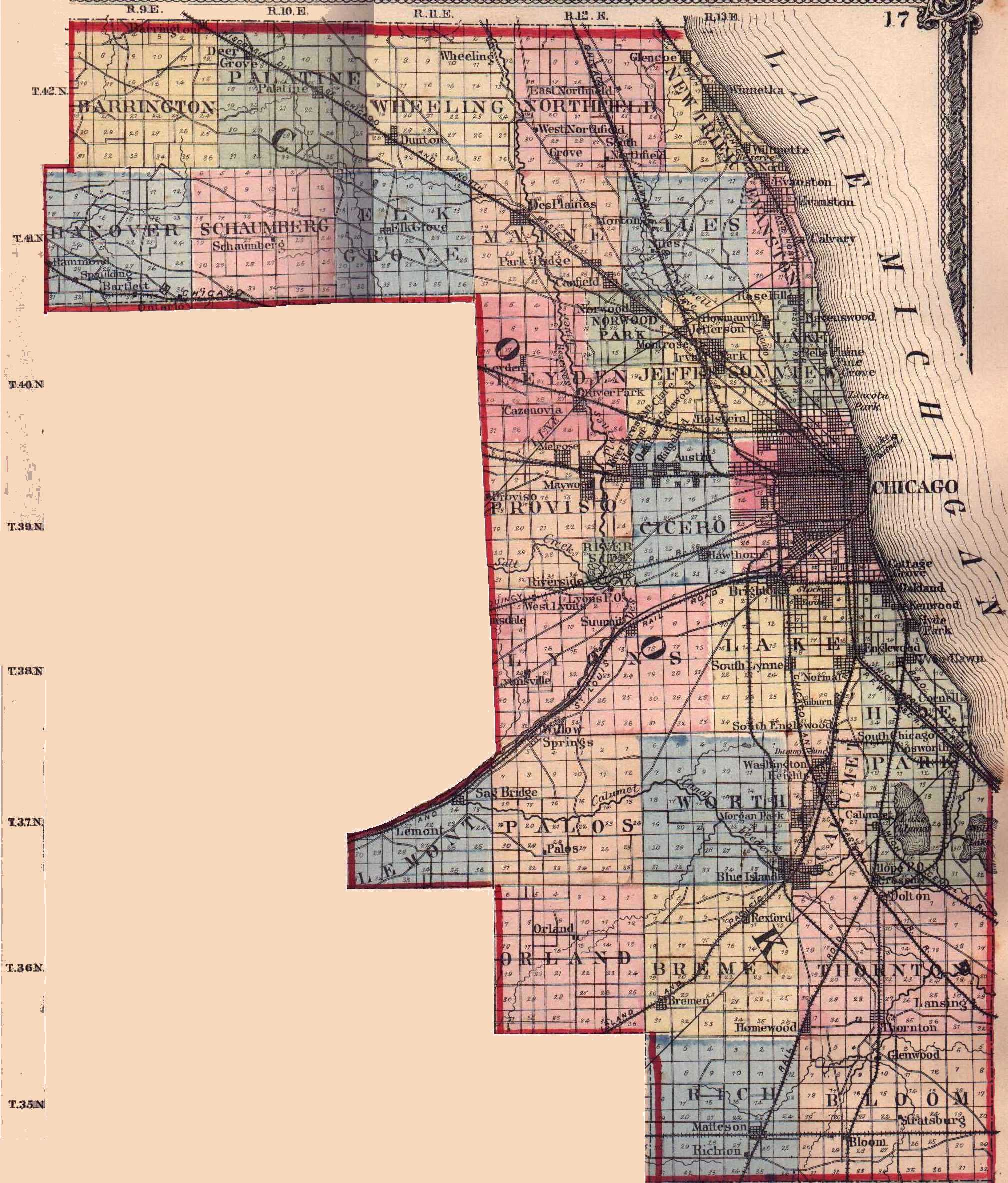 Cook County Illinois Map Cook County, Illinois: Maps and Gazetteers