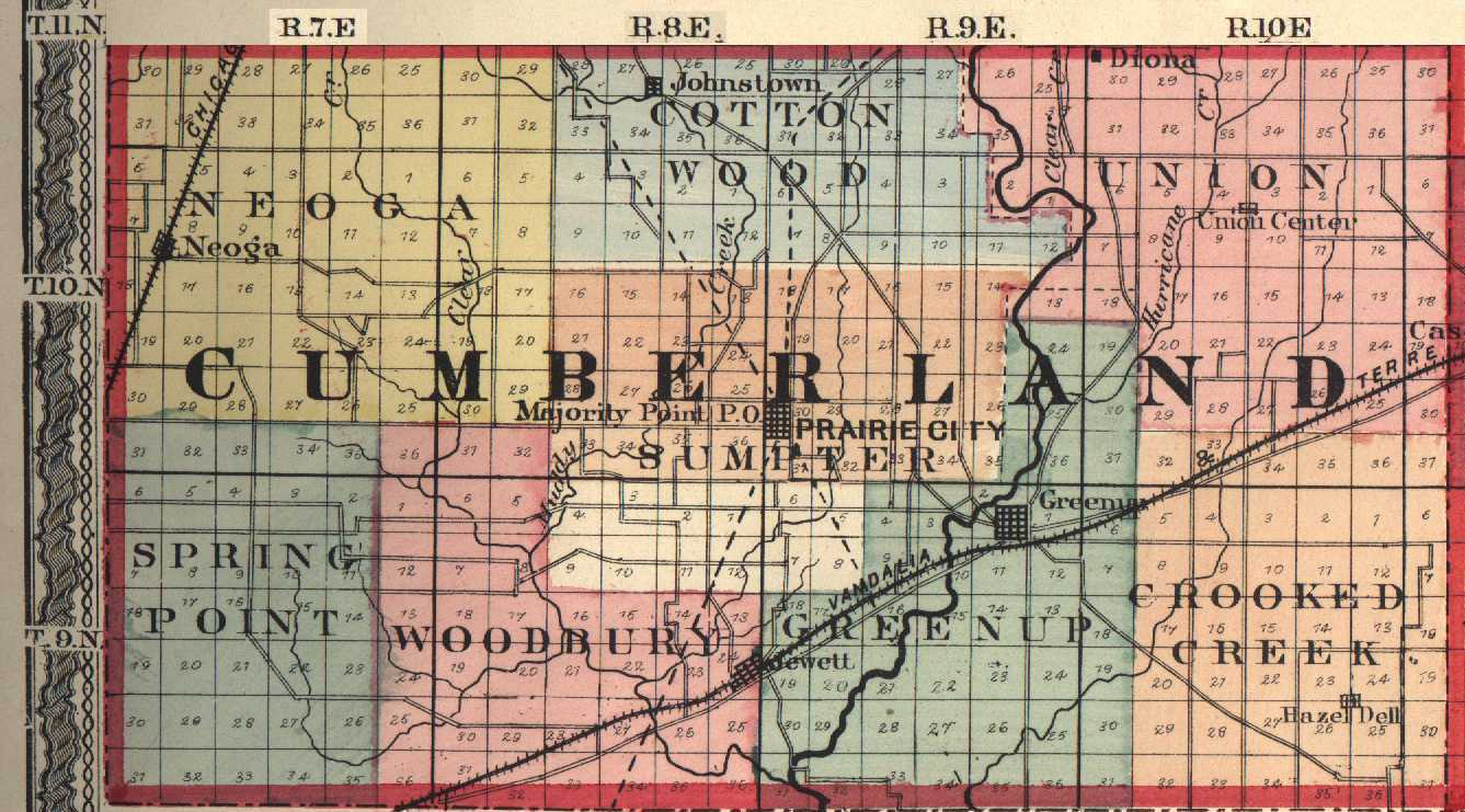 Cumberland County, Illinois: Maps and Gazetteers