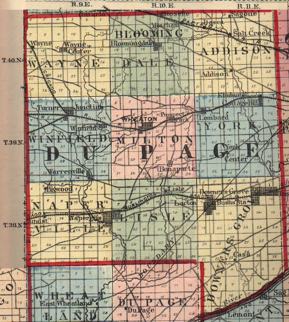 Du Page County Illinois Maps And Gazetteers - County map illinois usa