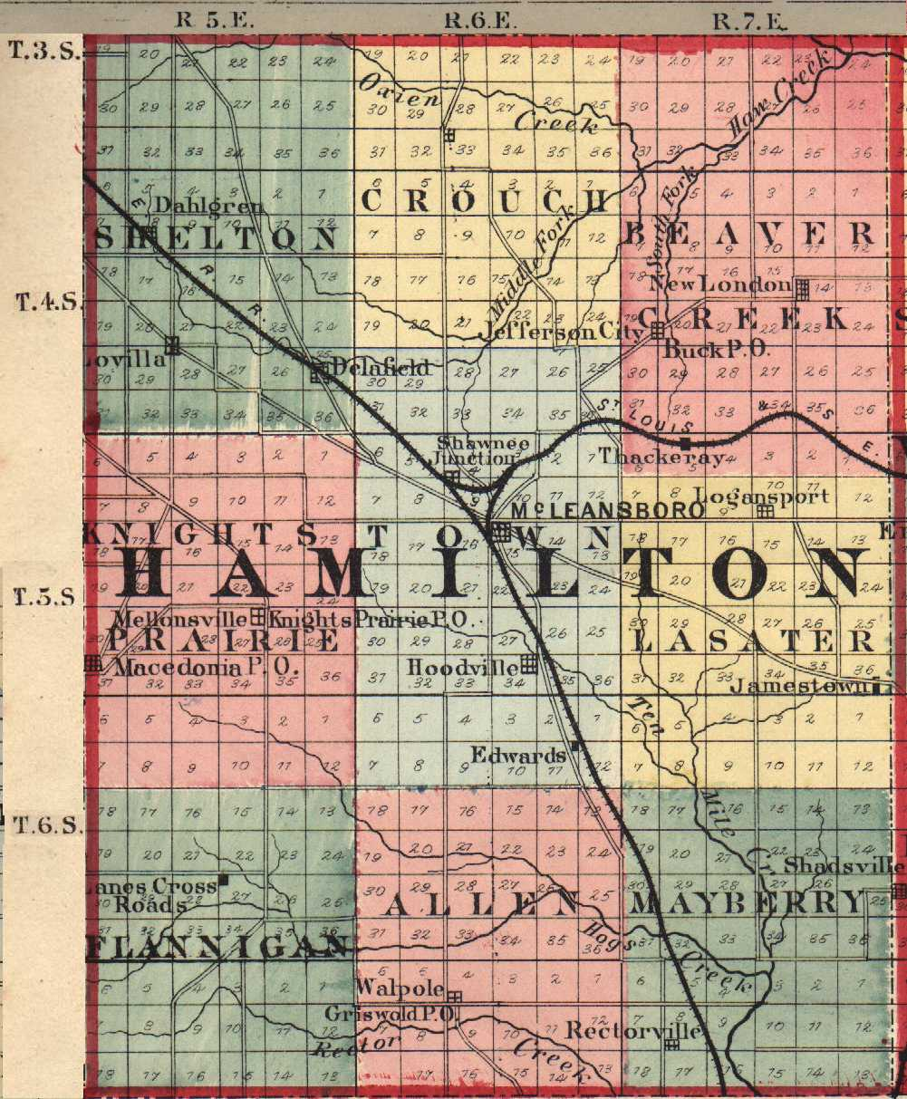 Hamilton County, Illinois: Maps and Gazetteers