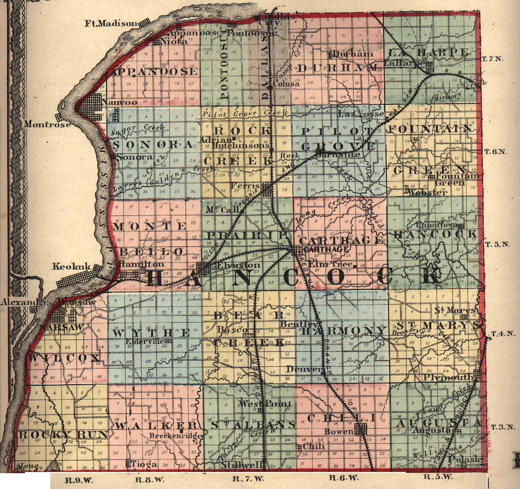 Illinois hancock county elvaston - 7 5 Minute Topographic Maps In Hancock County Identifies Cemeteries City Town Directory Source Usgenweb Illinois Archives
