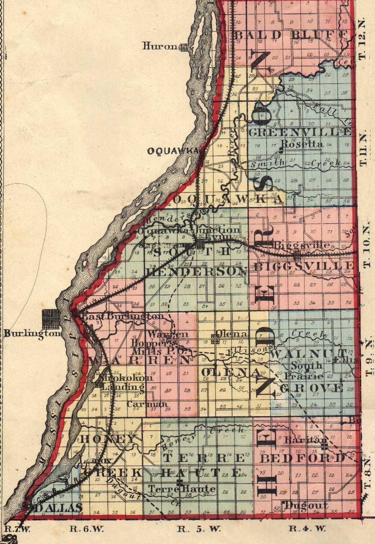 Henderson County Illinois Maps and Gazetteers