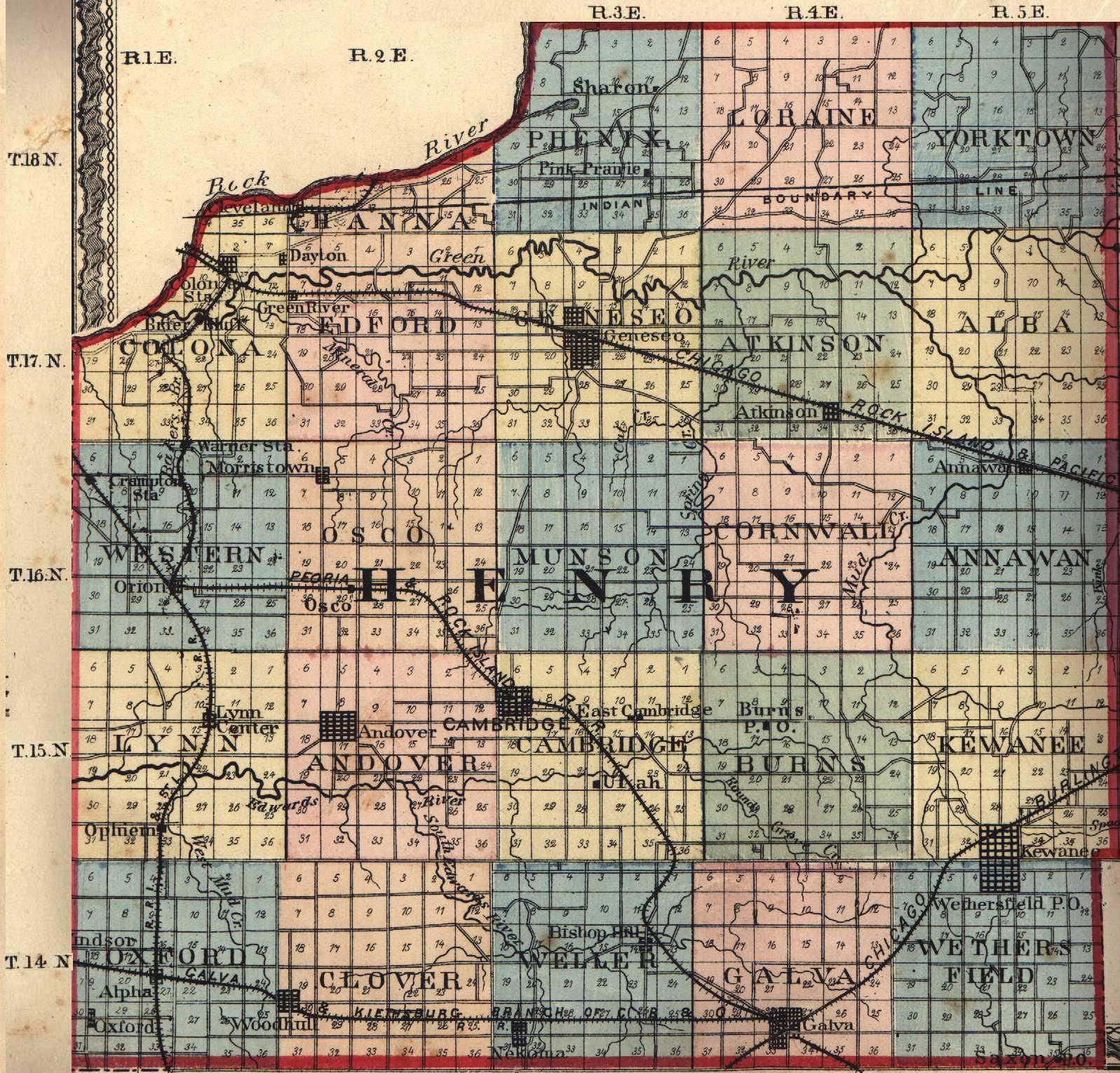 Kewanee Illinois Map.Henry County Illinois Maps And Gazetteers