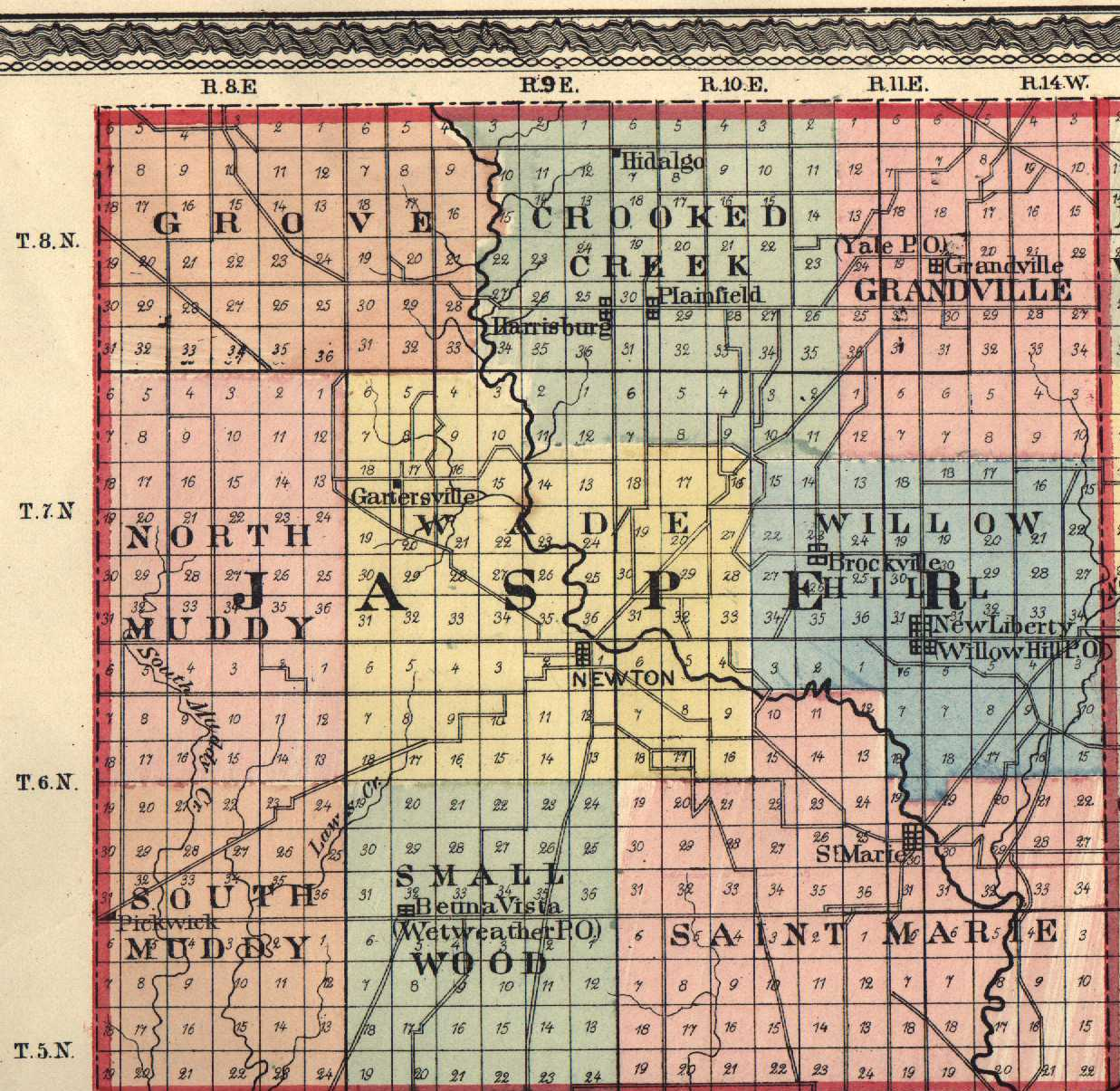 Jasper County Illinois Maps And Gazetteers - Map of jasper oregon