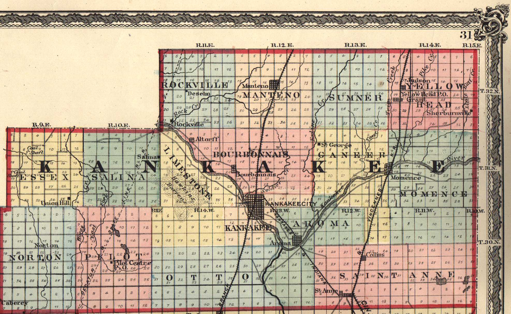 Kankakee County Illinois Maps And Gazetteers