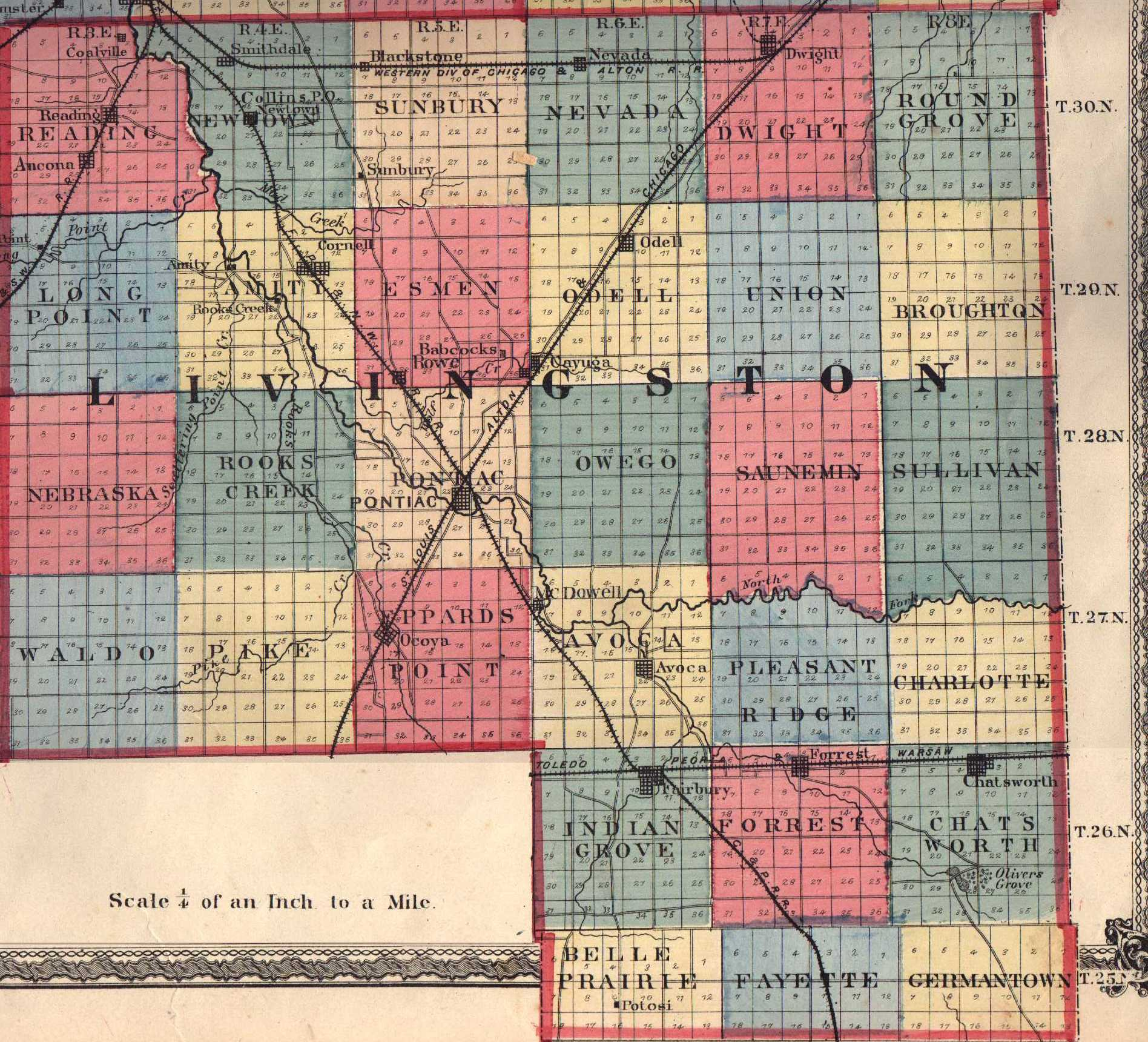 Livingston County Illinois Maps and Gazetteers
