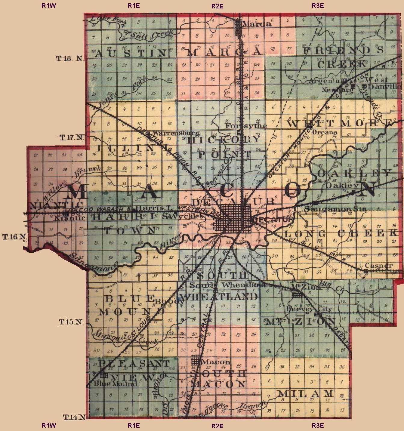 Macon County Illinois Maps and Gazetteers