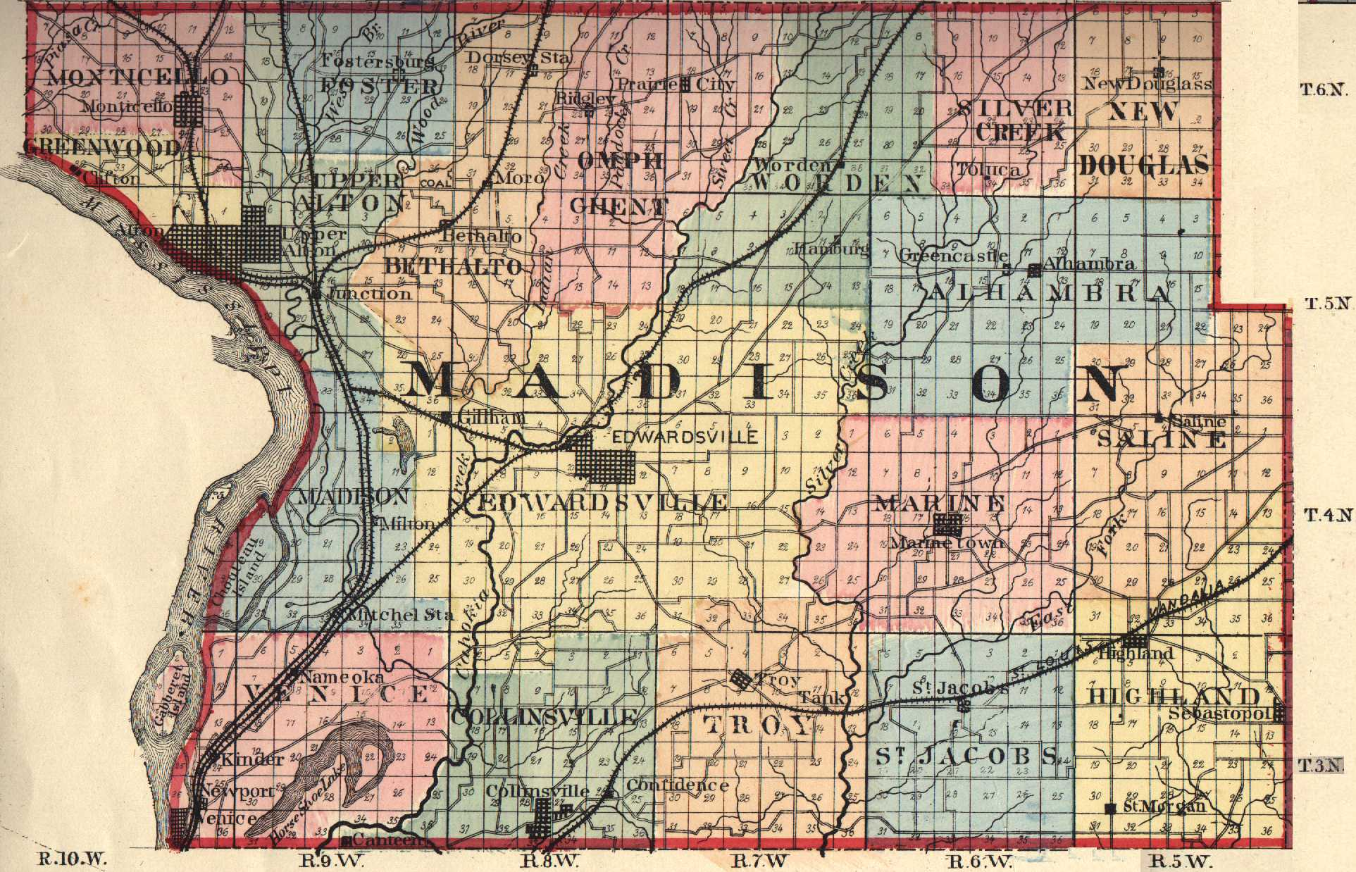 Madison County Illinois Maps and Gazetteers