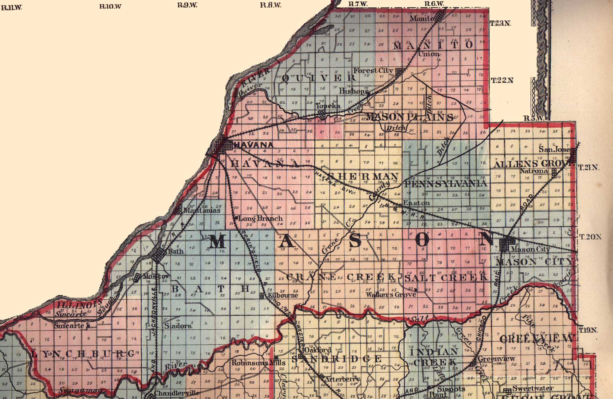 how to read old plat maps