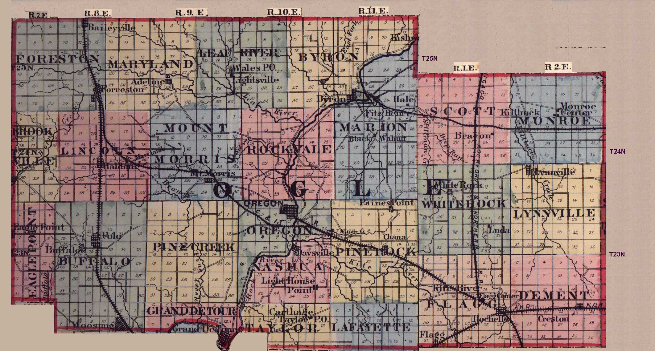 Illinois ogle county oregon - 7 5 Minute Topographic Maps In Ogle County Identifies Cemeteries Atlases Of Winnebago Boone And Ogle Counties