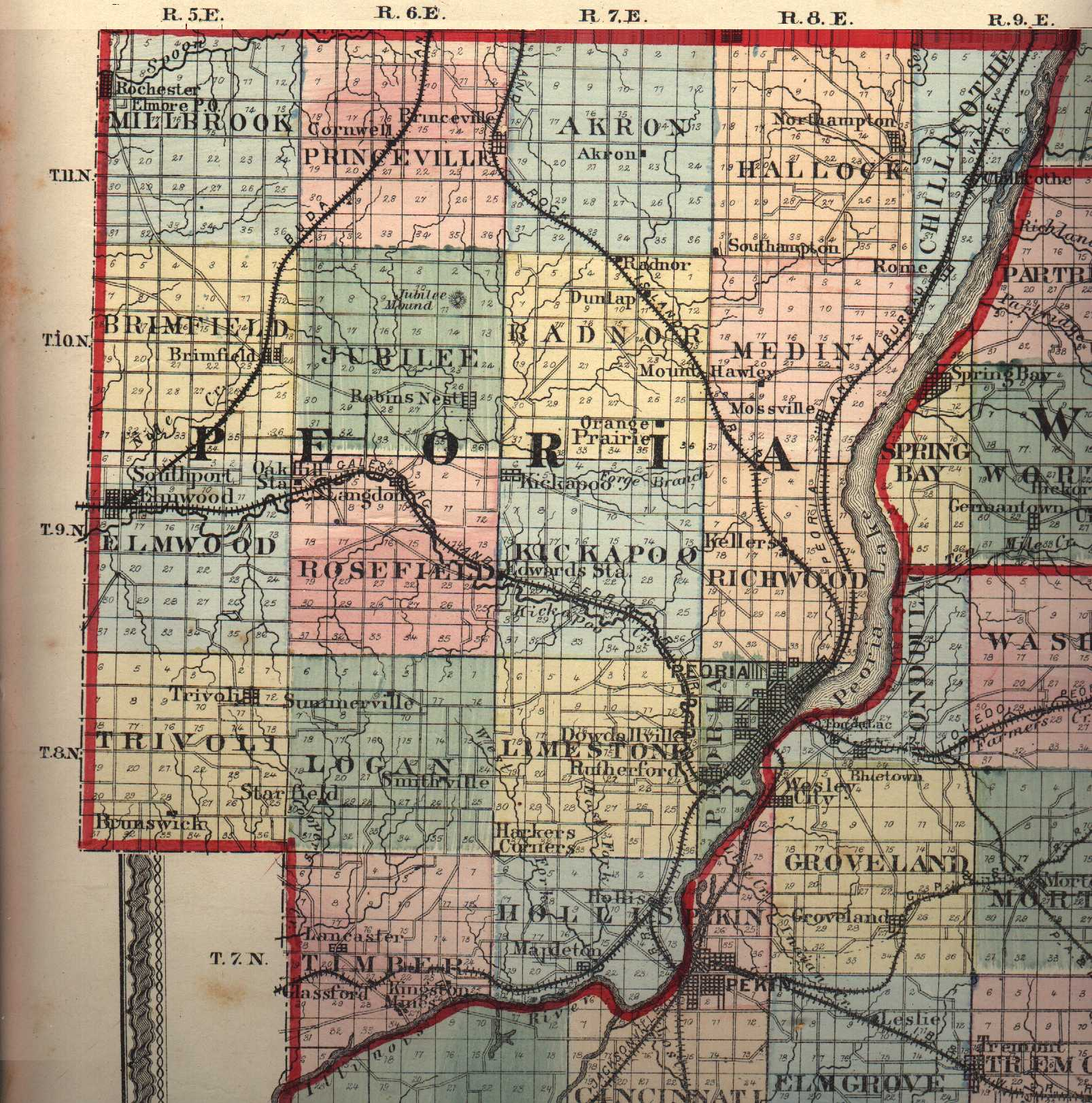 peoria county illinois maps and gazetteers