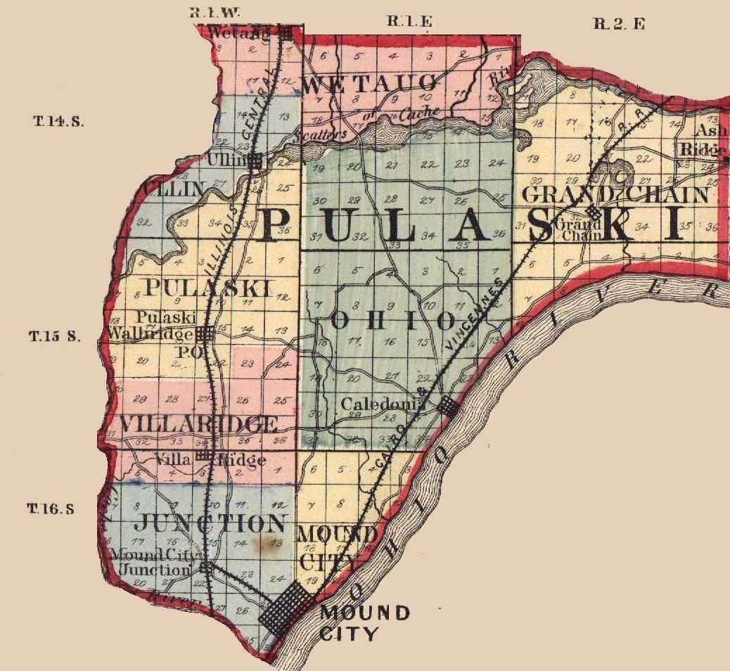 Illinois pulaski county mounds - 7 5 Minute Topographic Maps In Pulaski County Identifies Cemeteries City Town Directory Source Usgenweb Illinois Archives