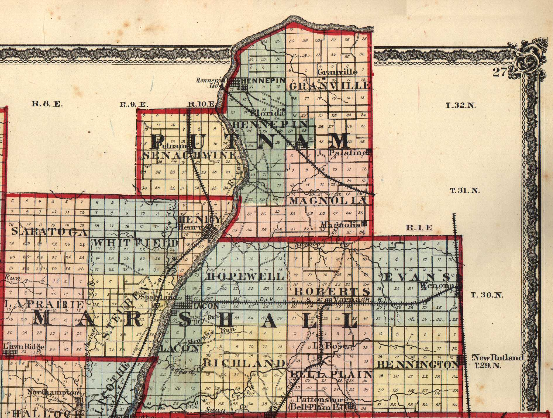 Putnam County, Illinois: Maps and Gazetteers on clinton county indiana township map, putnam county ohio road map, putnam county florida zip code map, dutchess county new york map, wayne county indiana cities map,