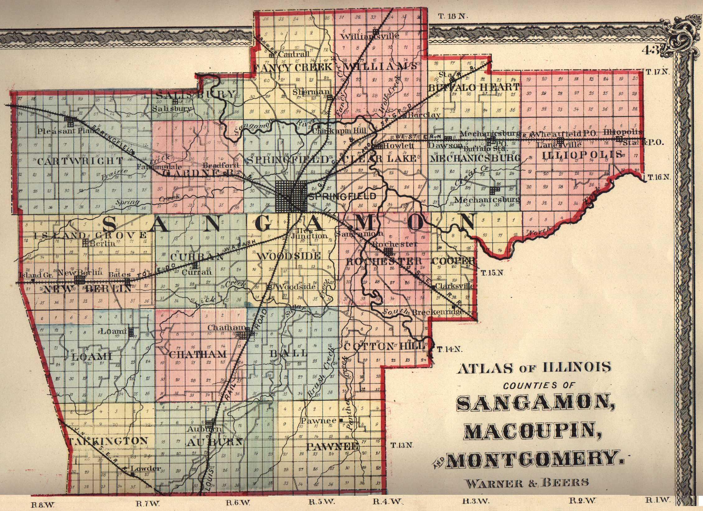 Sangamon County Illinois Maps And Gazetteers
