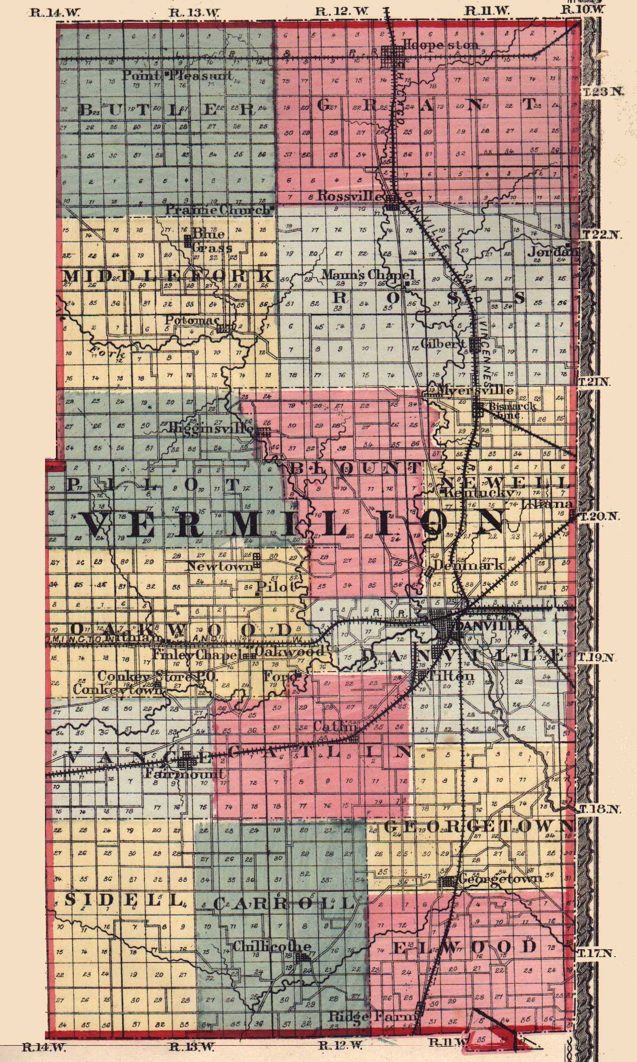 Vermilion County Illinois Maps and Gazetteers