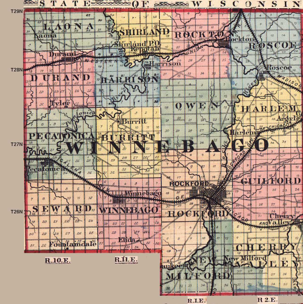 Winnebago County Illinois Maps And Gazetteers - Michigan land ownership maps