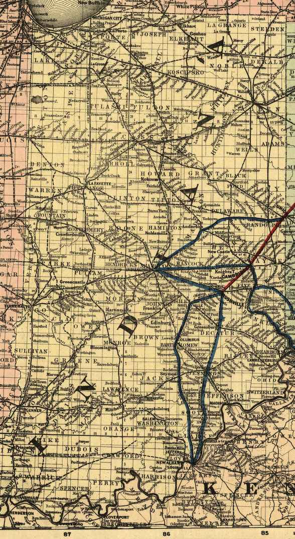 The USGenWeb Archives Digital Map Library  Indiana Maps