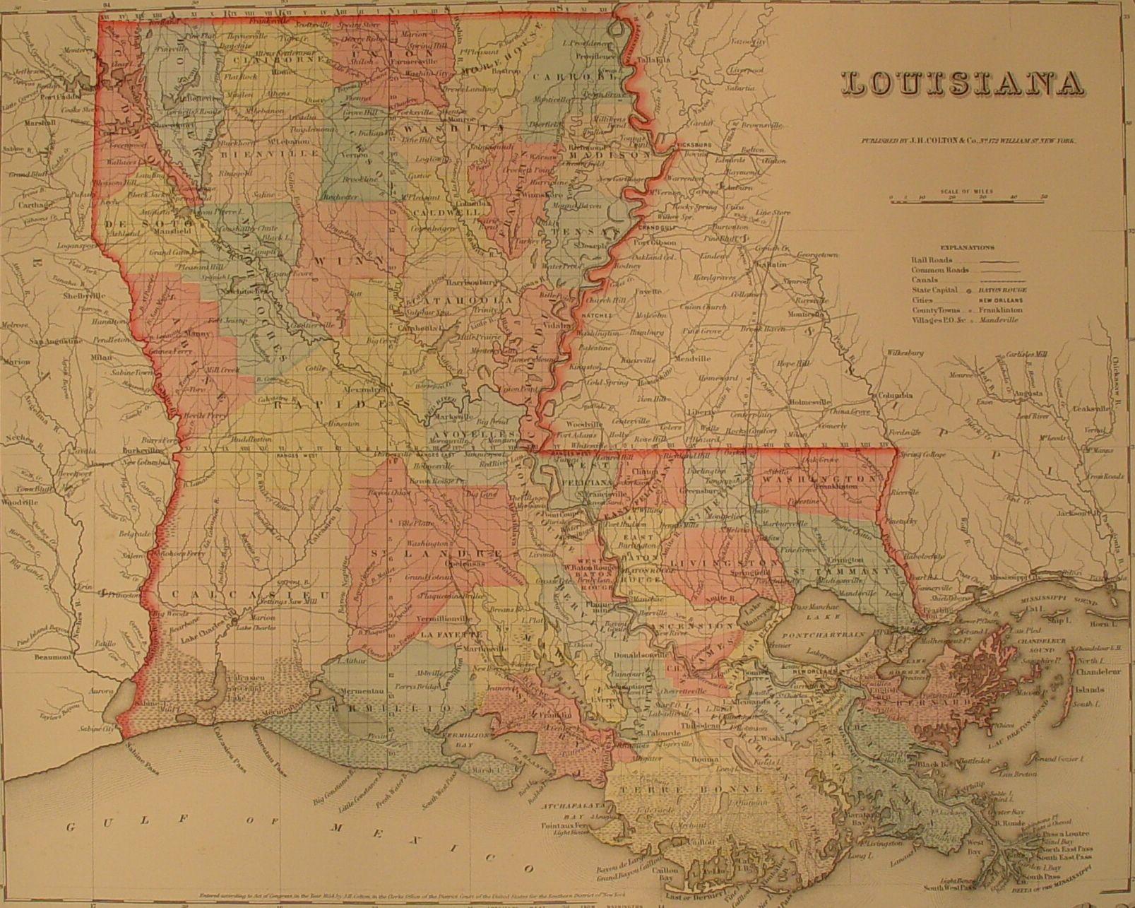Index Of Mapslouisianastatemap - Historic maps louisiana