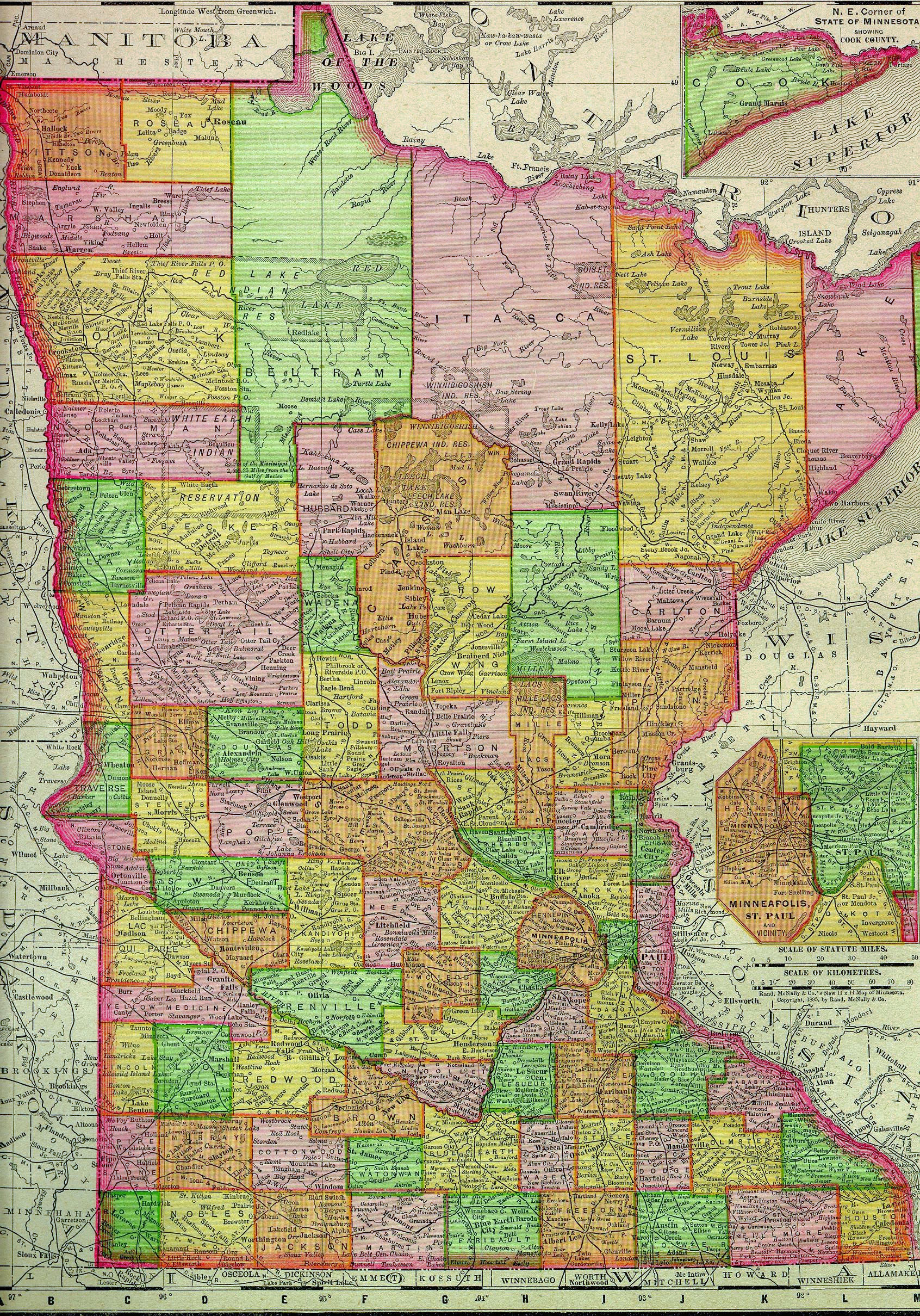 USGenWeb Archives Digital Maps Project Minnesota