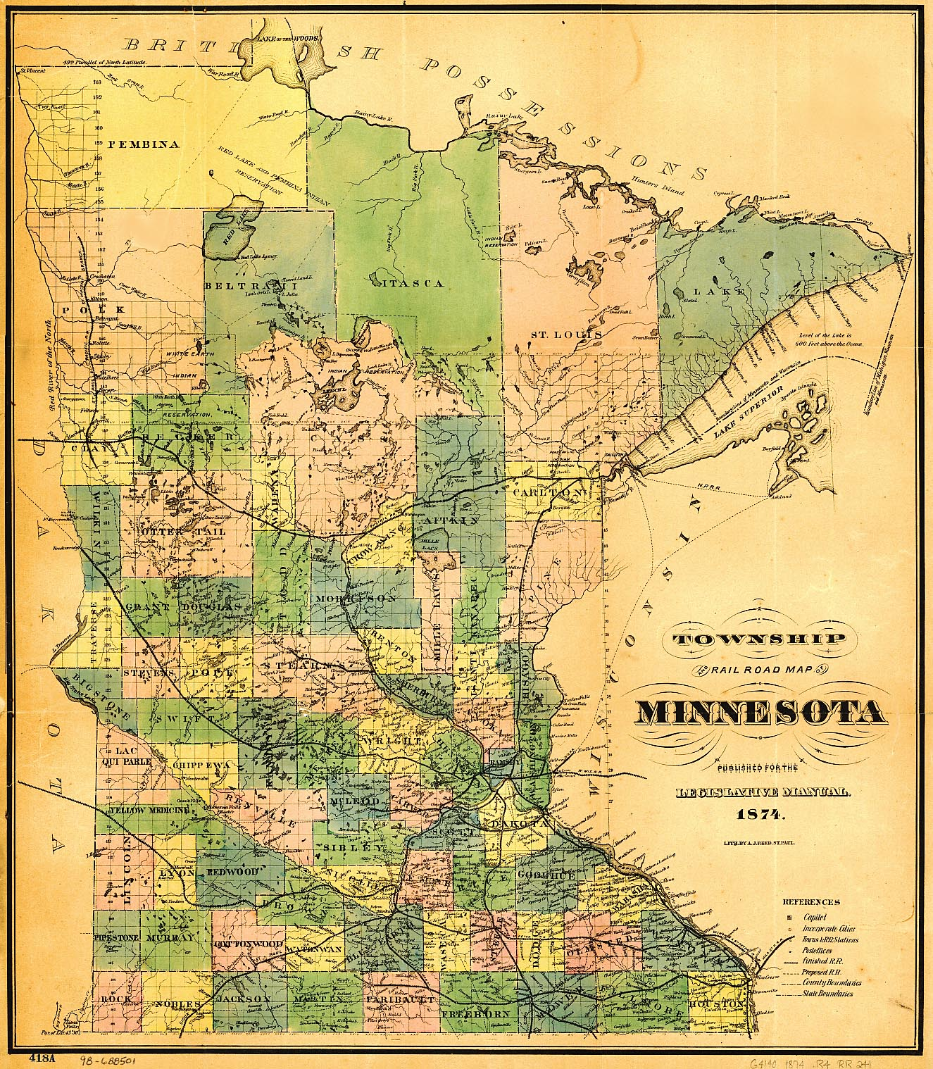 USGenWeb Archives Digital Maps Project Minnesota - State of minnesota map
