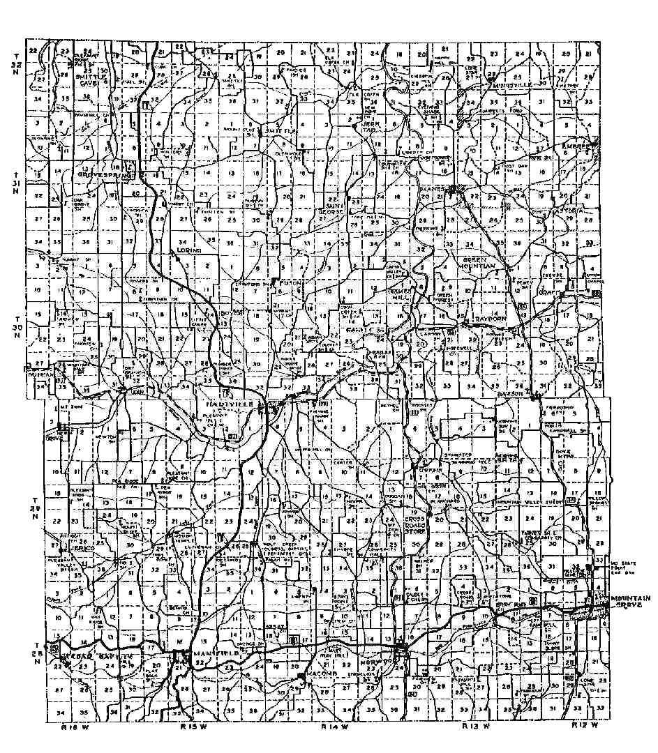 Wright County Missouri Maps And Gazetteers - Maps of mo