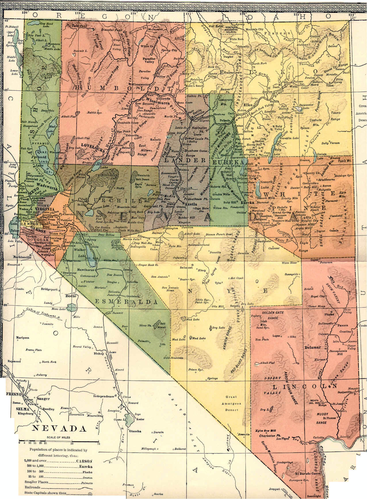 Nevada Maps Nevada Digital Map Library Table Of Contents