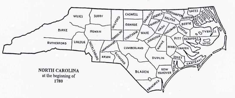 US GebWeb Digital Map Library North Carolina - County map north carolina