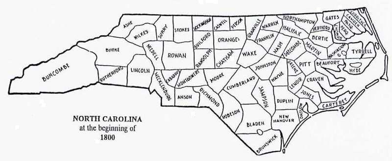 US GebWeb Digital Map Library North Carolina - County map of north carolina