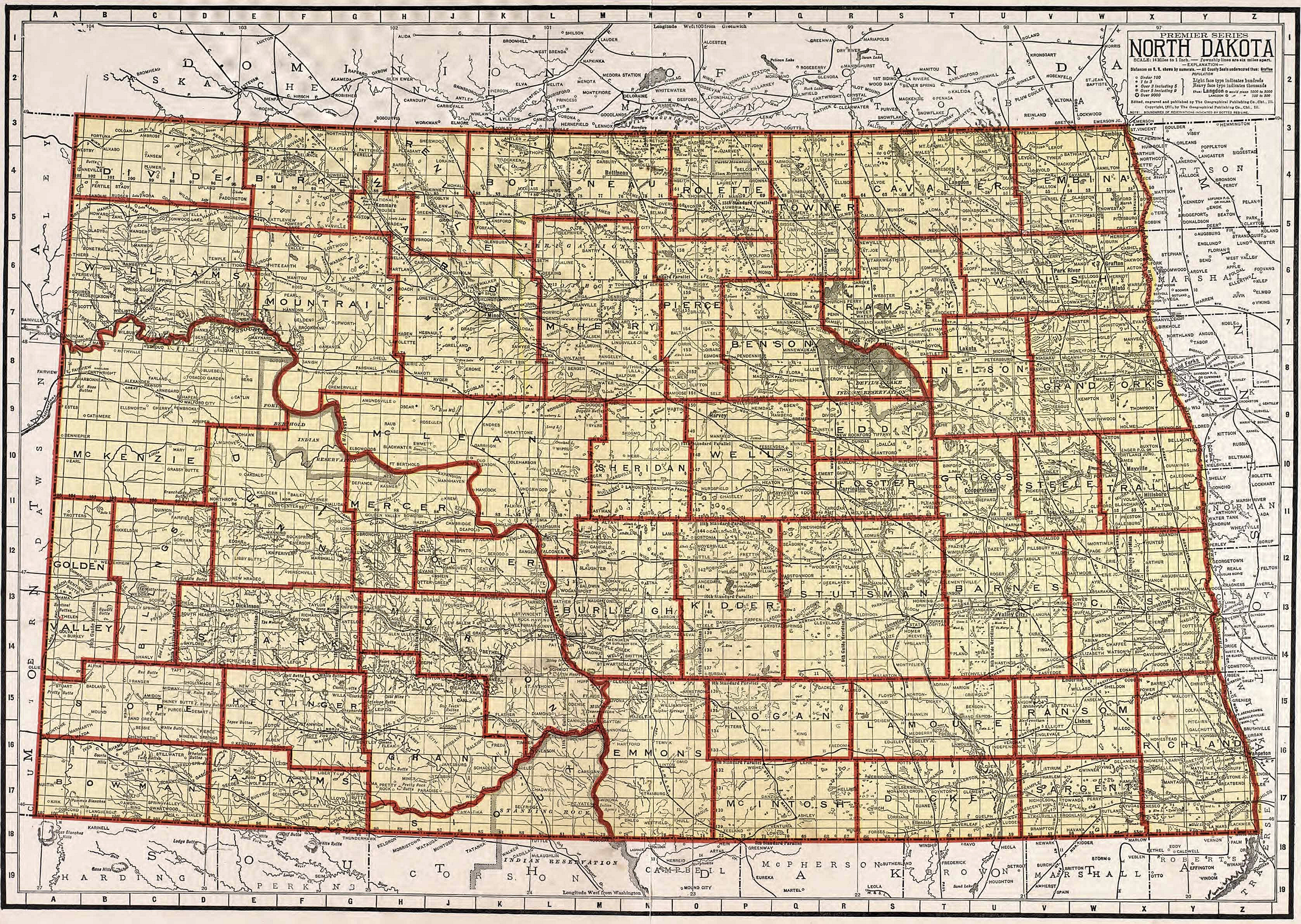 USGenWeb Archives Digital Maps Project North Dakota