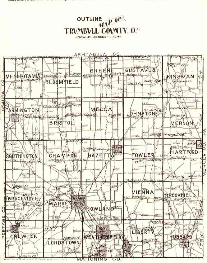 The USGenWeb Archives Digital Map Library   Trumbull Ohio County Maps