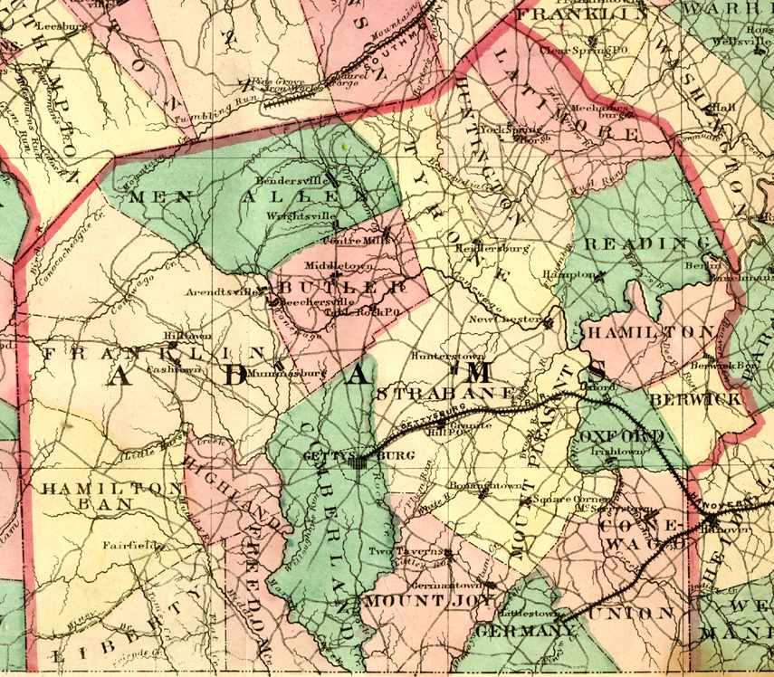 Adams County Pennsylvania Maps And Gazetteers