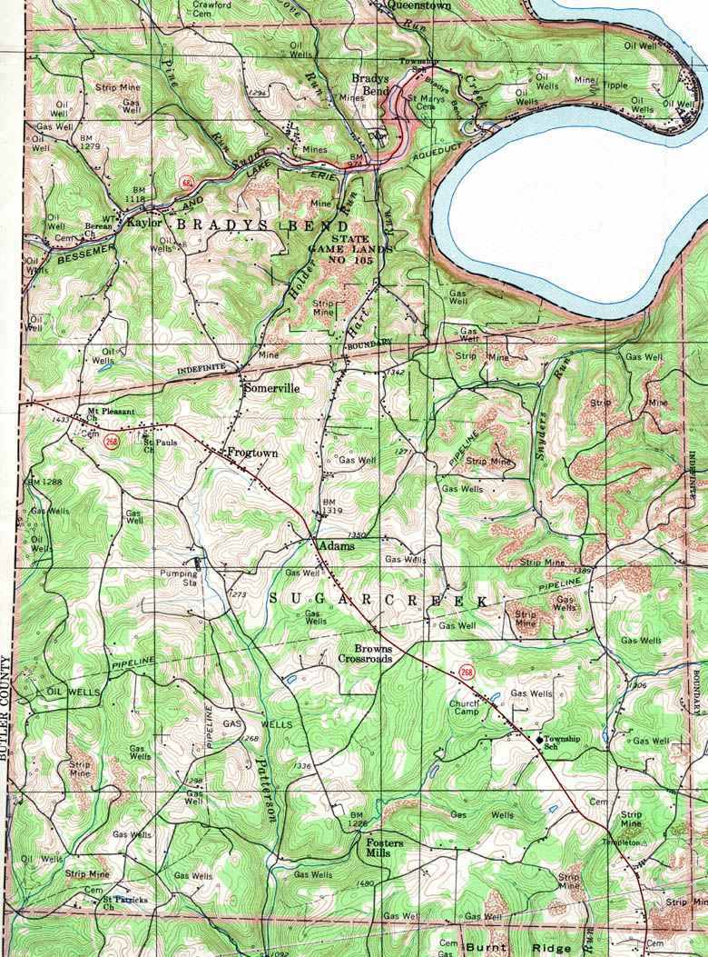 List of armstrong county township maps