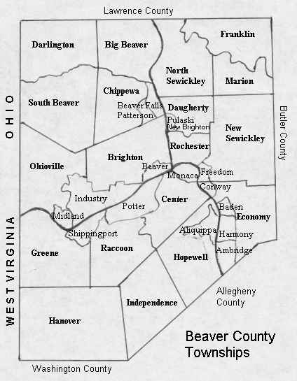 Beaver County Pennsylvania - County maps of pennsylvania