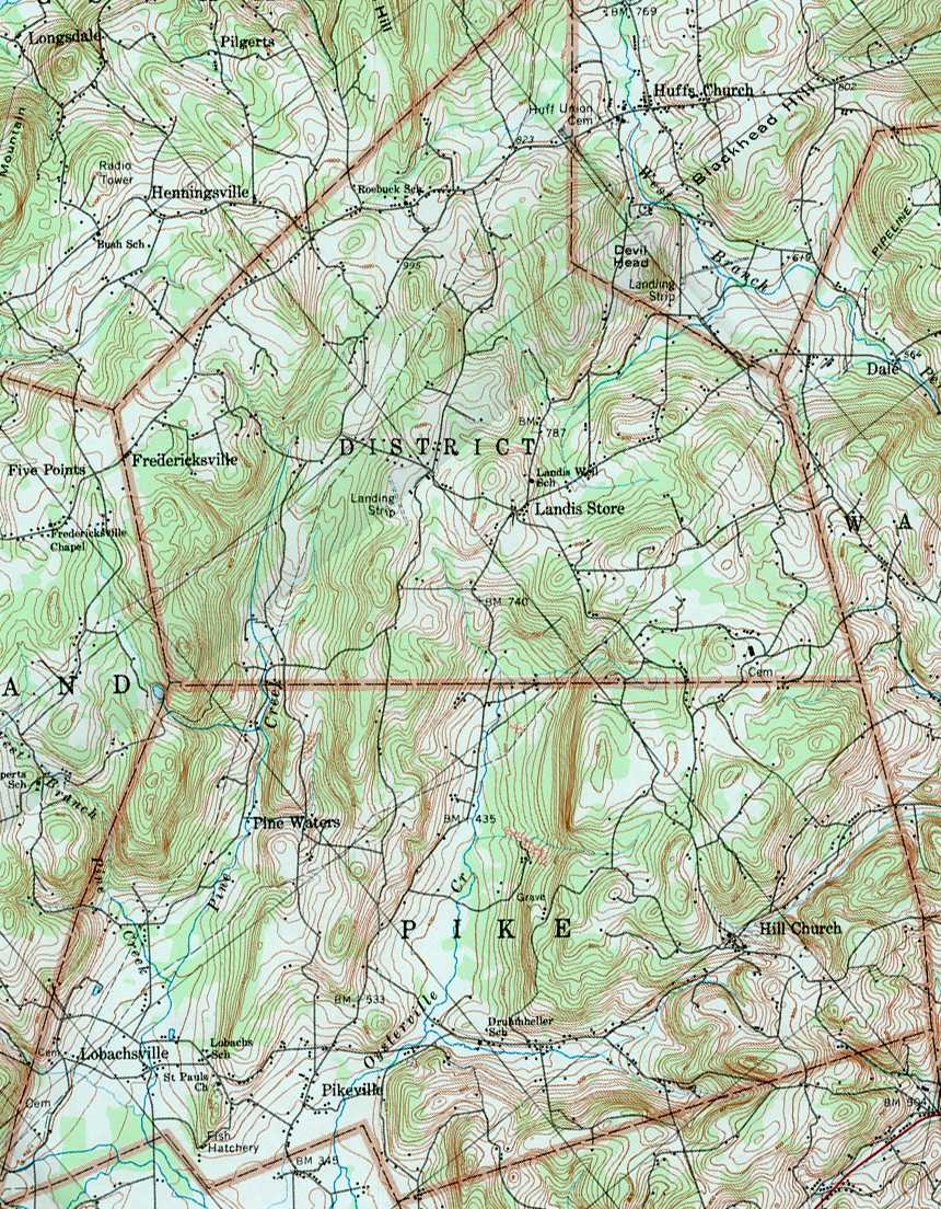 Berks County Pennsylvania Township Maps - Usgs map store