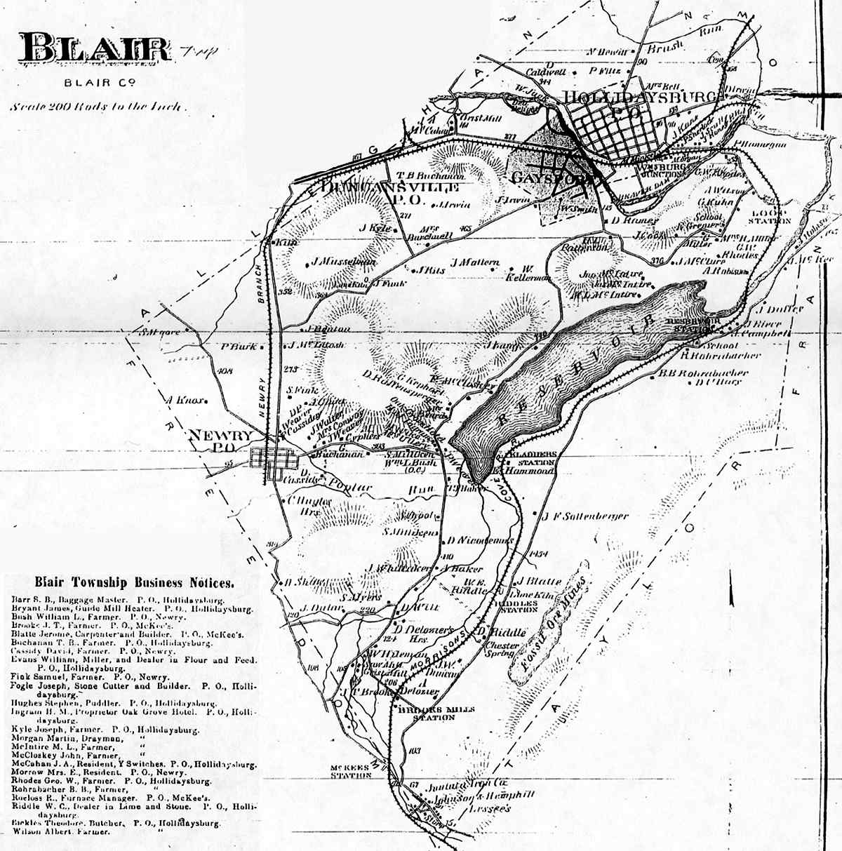 Blair County Pennsylvania Maps on old maps of columbia county, old schools in st. croix county wi, old texas state map,