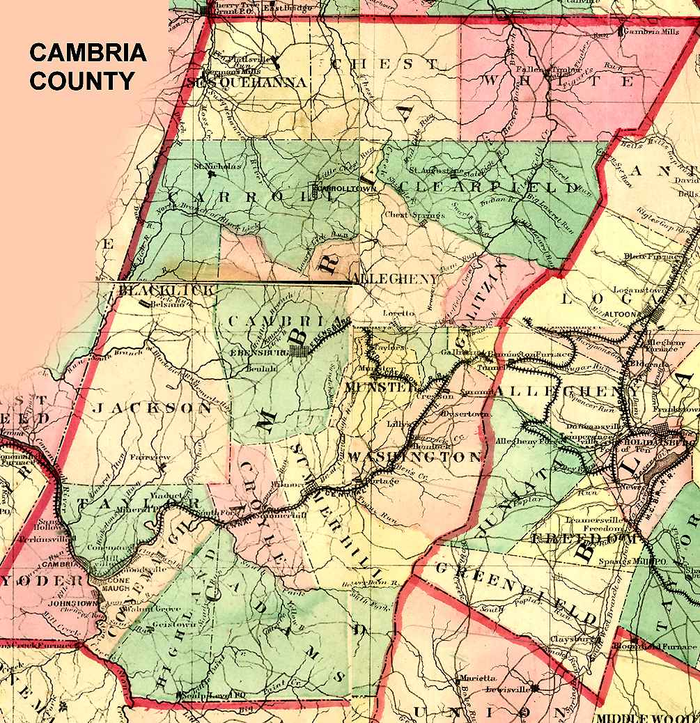Pennsylvania County USGS Maps - Detailed map of pa